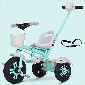 YINGH - Triciclo Bicicleta para niños con barra de empuje ...