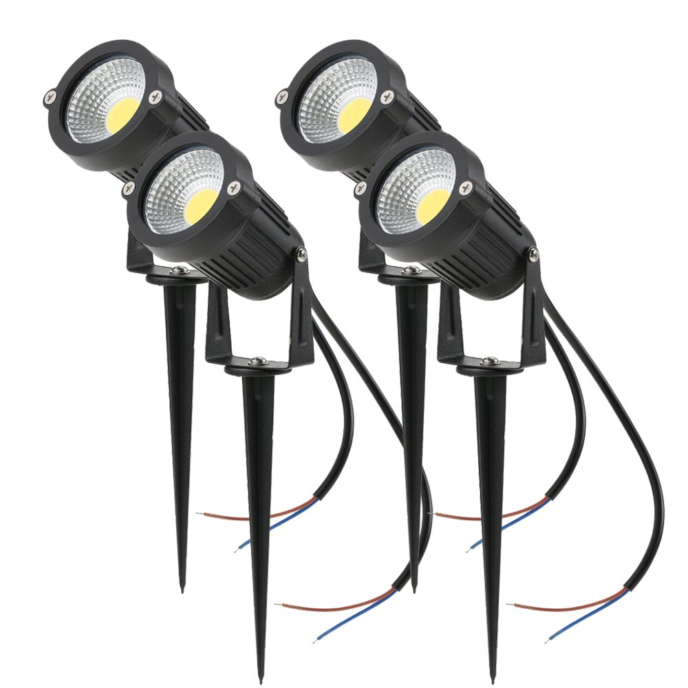 Tomshine 5w 12v Cob Led Path Lights Outdoor Spotlight Landscape Wiring A House Lighting 500lm Super Bright For Garden Wall Yard