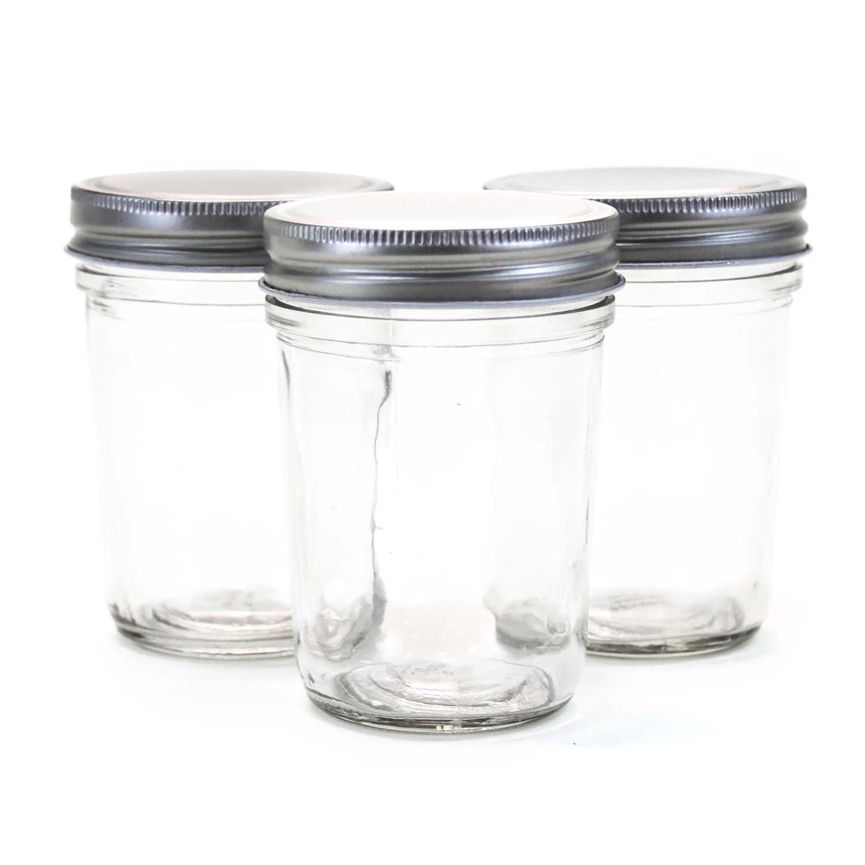 Dress My Cupcake Dress My Cupcake DMC93346 8-Ounce Mini Mason Jars, 0.5-Pint, Case of 72