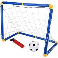 Fsskgx portería de fútbol, Mini portatil Desmontable portátil portería de Red para niños Conjunto de Juguetes Deportivos para niños - 23.6 x 16.1 x 11.4 Pulgadas