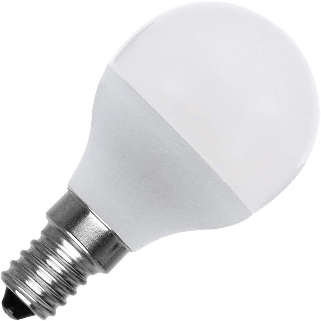 Bombilla LED E14 Casquillo Fino G45 5W Blanco Cálido 2800K - 3200K
