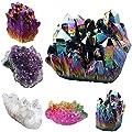 rockcloud Natural Crystal Quartz Cluster Geode Druzy Home Decoration Gemstone Specimen Sphere Figurine