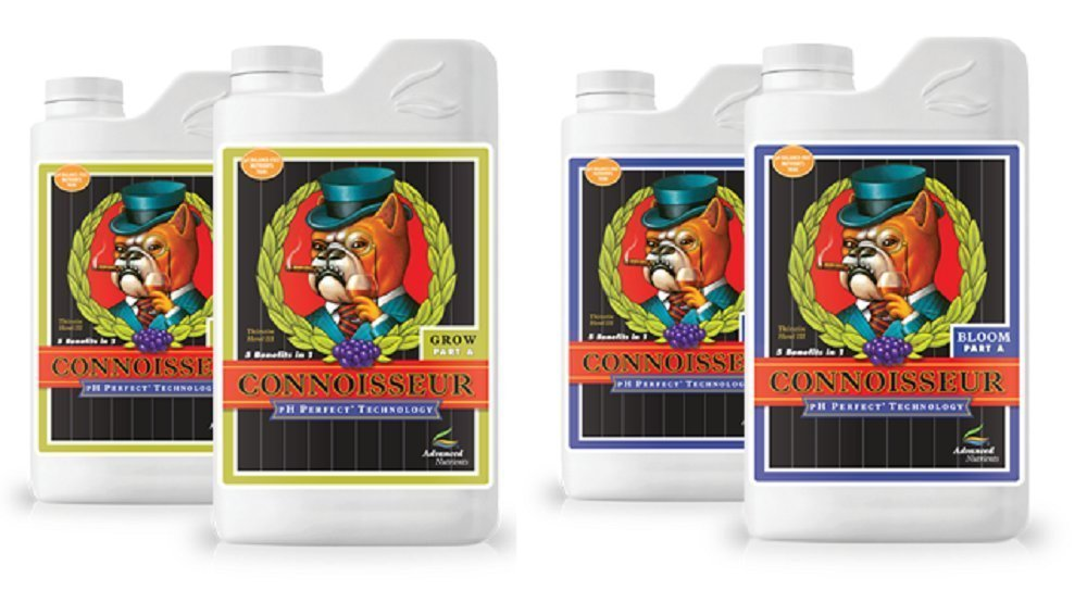 Advanced Nutrients Connoisseur Bundle Bloom A and B Grow A and B 4 Liter Each Bundle
