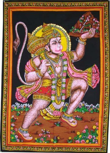 Americana Decor's Indian God Tapestry Poster Lord Huge Good Luck Wall Poster 30 x 40 Inch Poster (Lord Hanuman)