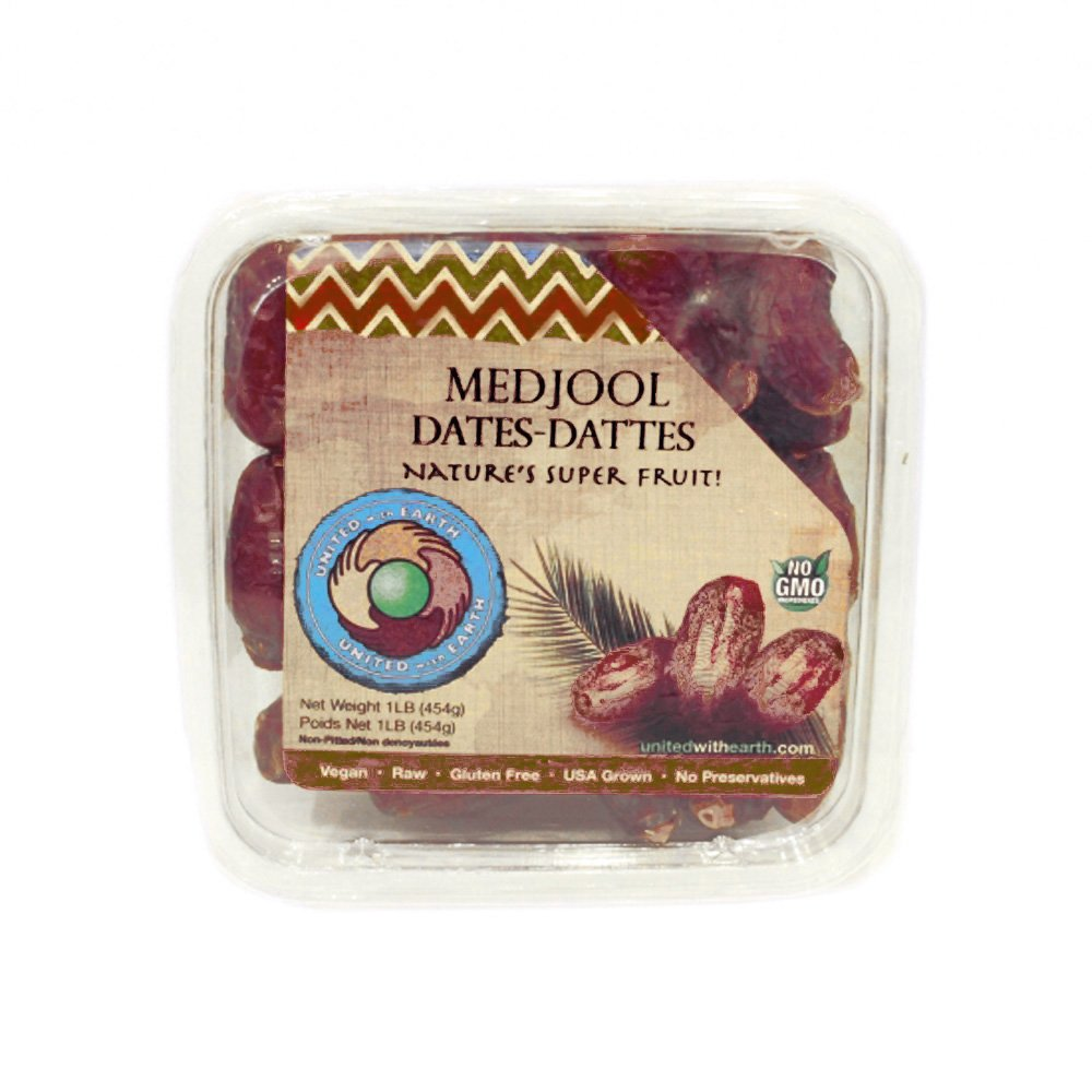 United with earth - Kosher Medjool Dates pack of 2 containers (Total 2lbs)