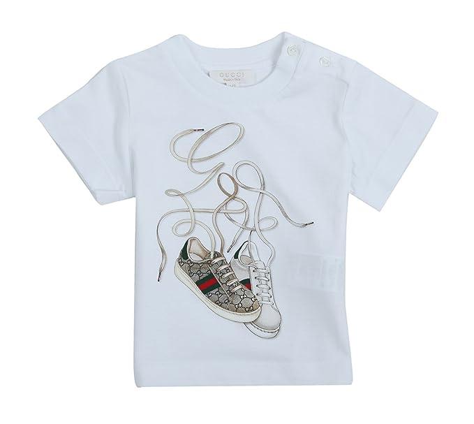 Gucci Camiseta para niña color blanco 307396 - 9060 Blanco blanco 74: Amazon.es: Ropa y accesorios