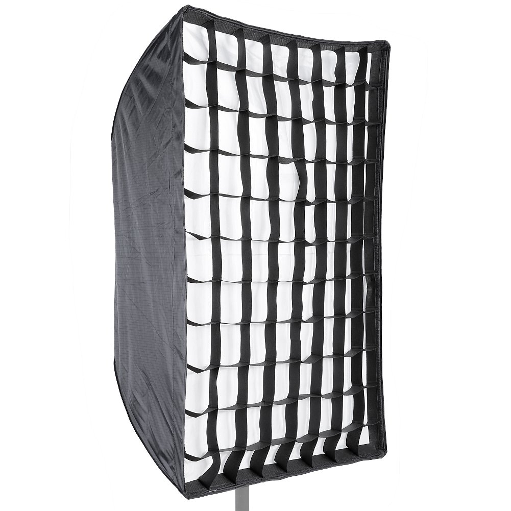 Neewer® Photo Studio 24' x 36'/60 x 90cm Rectangle Umbrella Type Speedlite Softbox with Grid for Portraits, Product Photography and Video Shooting