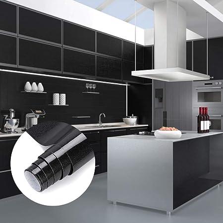 Nessuna Colla PVC Impermeabile Adesivi mobili rinnovato mobili da Cucina Autoadesivo Bianca carta adesiva per mobili 500 cm x 61 cm