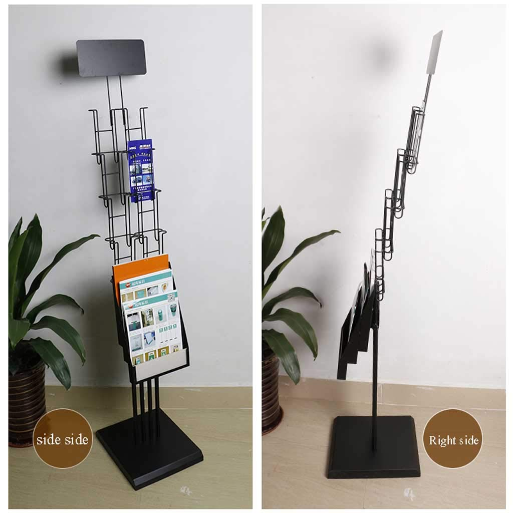 Amazon.com: Magazine Rack brochure Display Rack Portable Magazine Leaflet Literature Booth Directory Reference Exhibition Display Stand: Home & Kitchen