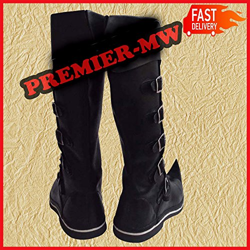 f634c5712f3 Viking De Médiéval À nbsp boucle Marron Pirate Long 6 Chaussures Cuir Homme  La Nasir Renaissance ...