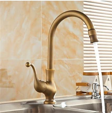 QINLEI in stile europeo antichi oggetti per uso igienico, bacino del  rubinetto, di cucina, di rame il rubinetto, il lavaggio del rubinetto