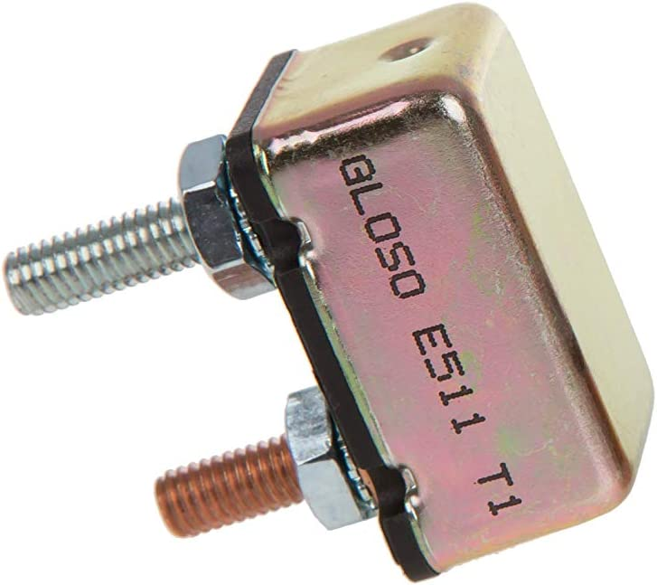10A GLOSO E511 Stud Type Circuit Breakers Auto Reset No Bracket - 1 Pack T1