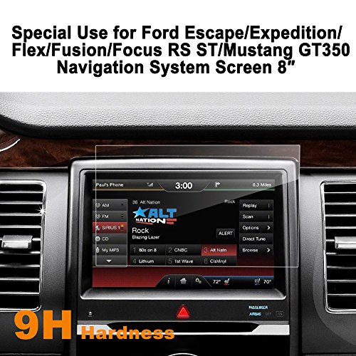 Ford Escape Expedition Flex Fusion Focus RS ST Mustang GT350 8 Inch Car Navigation Screen Protector,LFOTPP [9H] Tempered Glass Center Touch Screen Protector Anti Scratch High Clarity by LFOTPP