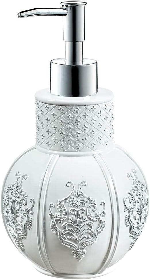 """Ceramic Soap Dispenser Plain White 4.25/"""" Lot of 6"""