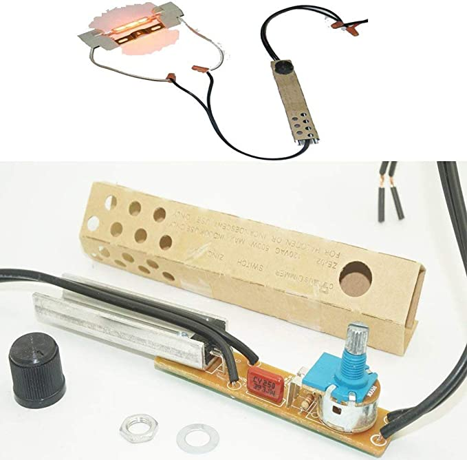 para 12V DC PWM Perilla Manual Regulador de luz LED Interruptor de luz con bot/ón Regulador del Cable del regulador del Cable para luz de Tira de LED