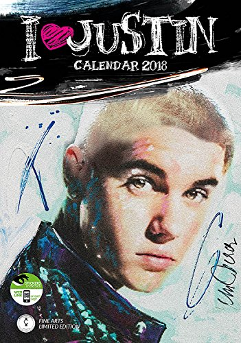 Justin Bieber Calendar - Calendar 2017 - 2018 Calendars - Justin Bieber Poster Calendar - 12 Month Calendar by Dream