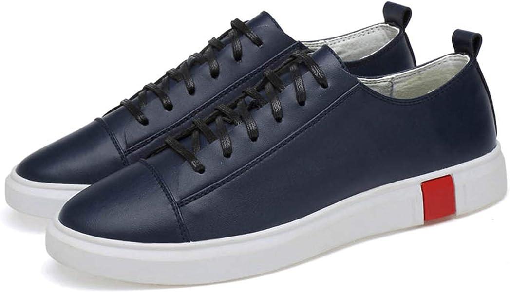 Amazon.com | Men Casual Shoes Split Leather Sneakers 100% Rubber Outsole Blue 40 | Shoes