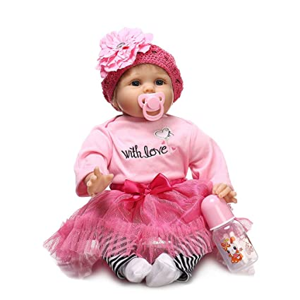 Newborn Baby Girl Boy Birthday Gifts 22/'/' Lifelike Vinyl Silicone Rebirth Dolls