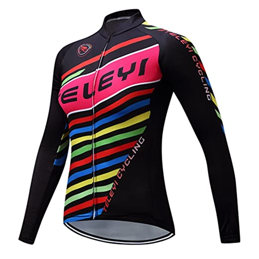 adf8af403 Cycling Jersey Women s Biking Breathable Long Sleeve Bicycle Shirt Top  Striped black S