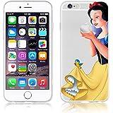Disney PRINCESS Snowwhite transparente in poliuretano termoplastico per iPhone-Cover per iPhone 5,5S,5C,6/6S ,6+,iphone7 plastica,(iphone 5/5s,Snowwhite)