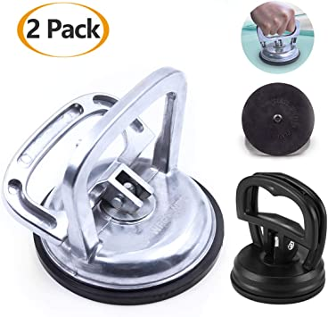 2 Single Suction Cup Dent Puller Glass Handle Repair