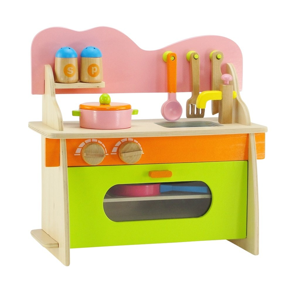 Emily Rose 14-inch Doll Furniture | Kitchen Set with Baking Oven, Stove, Sink and Cookware Accessories | Fits American Girl Wellie Wishers Dolls