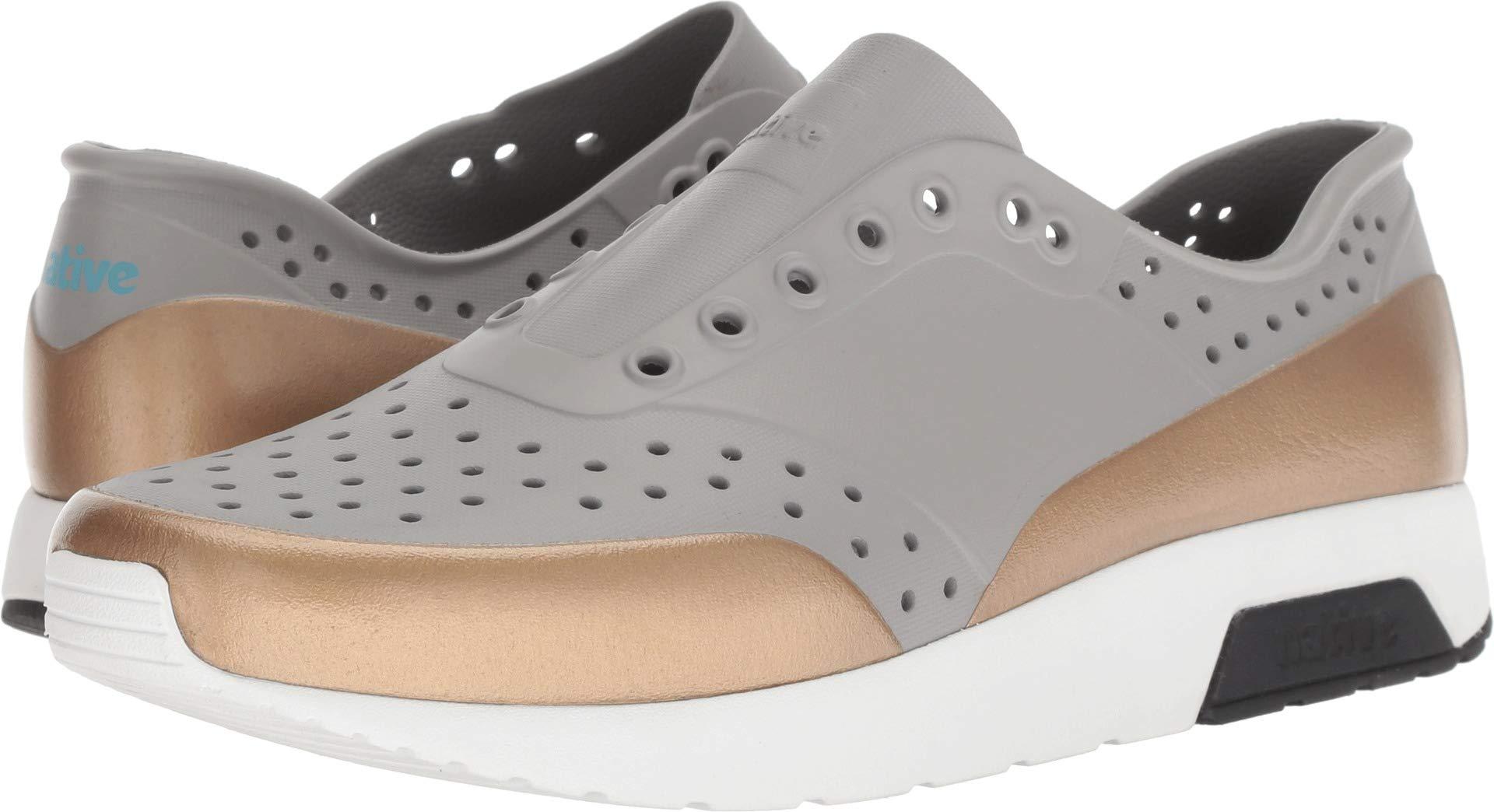native Shoes Unisex Lennox Pigeon Grey/Shell White/Jiffy Black/Rose Gold Block 6 Women / 4 Men M US