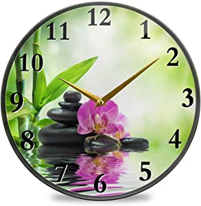 Pac Mac Wall Clocks Kitchen Wall Clock Mechanisms Battery Powered Bathroom Clock Garden Clocks for Office and Home-11.9x11.9 in