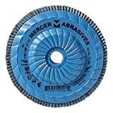 Mercer Industries 262T060 High Density Type 27, 4-1/2''x 5/8'' -11 Grit 60 Zirconia Flap Disc Trimmable (10 Pack)