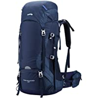 Kimlee Camping Backpack for Hiking Climbing Skiing with Rain Cover 60L Cycling Traveling Outdoor Hydration Hunting Backpack