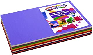 "product image for Colorations Construction Paper Pack, 10 Assorted Colors, 12"" x 18"", 300 sheets, heavyweight construction paper, crafts, art, kids art, painting, coloring, drawing, creating, arts and crafts (Item # BIGSMART)"