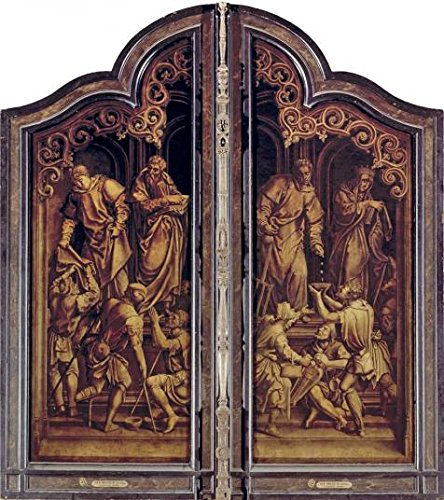 Perfect Effect Canvas ,the Replica Art DecorativePrints On Canvas Of Oil Painting 'Last Judgement And The Seven Acts Of Mercy By Bernard Van Orley', 30x34 Inch / 76x86 Cm Is Best For Bathroom Decor And Home Decor And Gifts