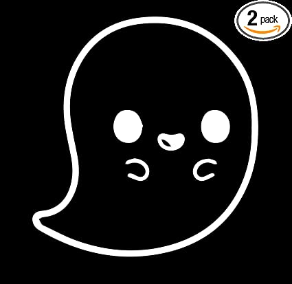 Spooky Ghost Silhouette Halloween Vinyl Decal Car Window Stickers WHITE 2