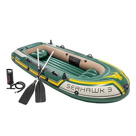 Intex 68380NP - Barca hinchable Seahawk 3, con remos aluminio 295 x 137 x 43 cm