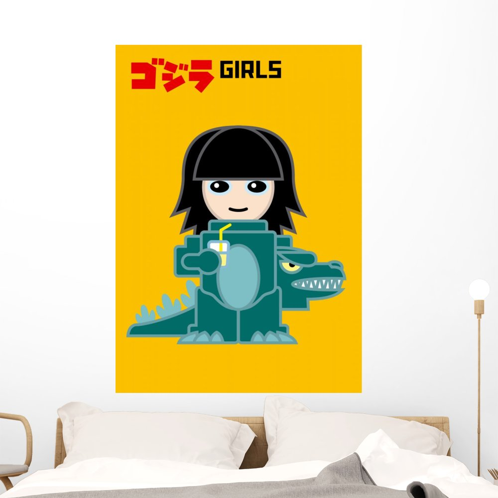 Amazon.com: Wallmonkeys Wall Decals Godzilla Girl Peel and Stick ...