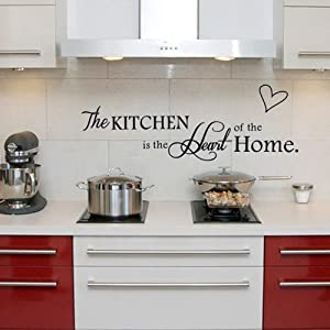 Tinfun 'The Kitchen' Quote Wall Stickers Kitchen & Dining Room Wall Decal Vinyl Home Décor