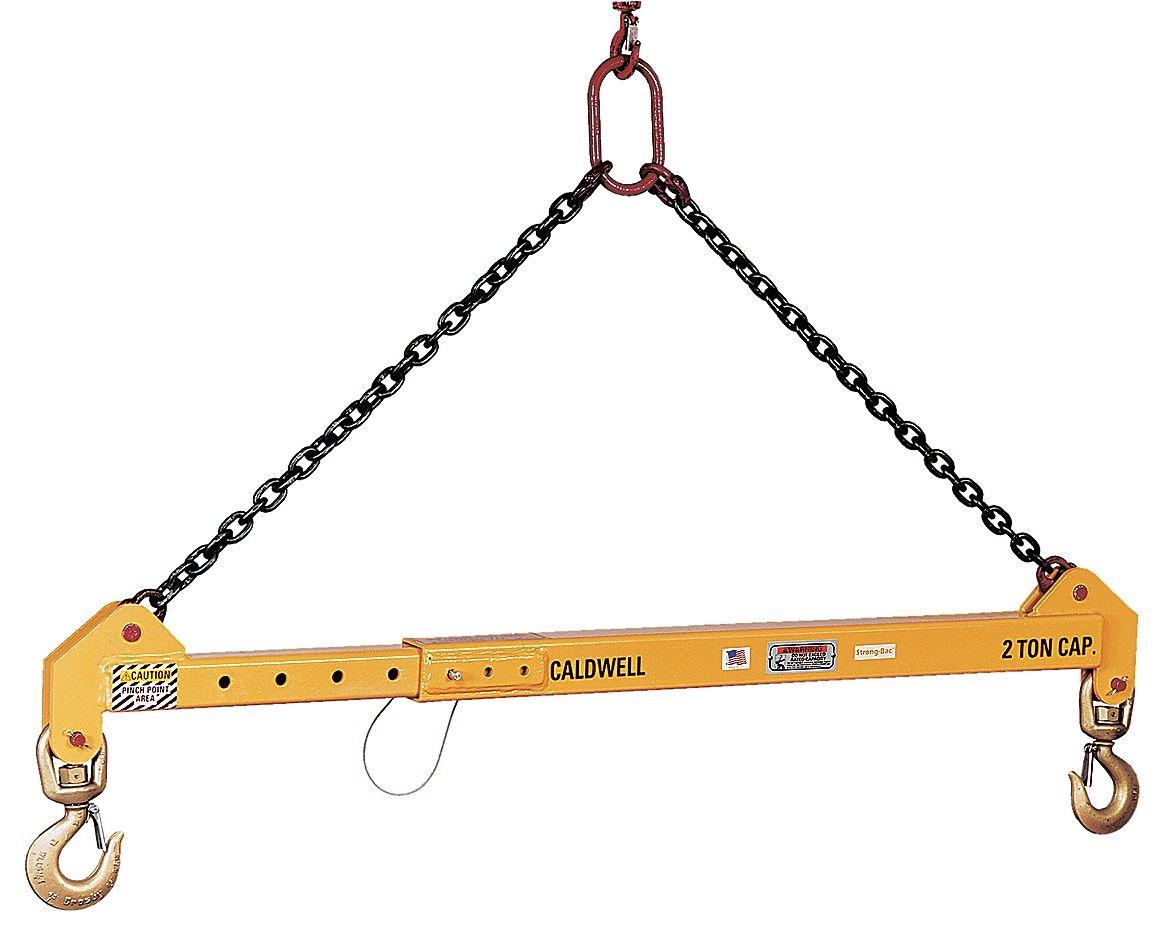Spread 48 Min Adjustable Spreader Beam 000 lb 32C-5-4//6 The Caldwell Group Max 10 Headroom 55 to 64 Spread 72