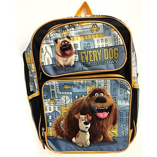 The Secret Life of Pets 16inch Large Backpack -Max, Duke, Mel (Illumination Front Closure)