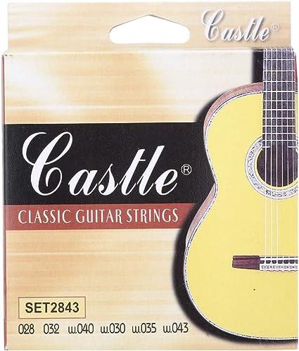 Castle 2843 Nylon Juego de Cuerdas para Guitarra Clasica: Amazon ...