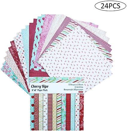 Papel Estampado Patrón 24 Hojas De Paper Decorativas Pack ...