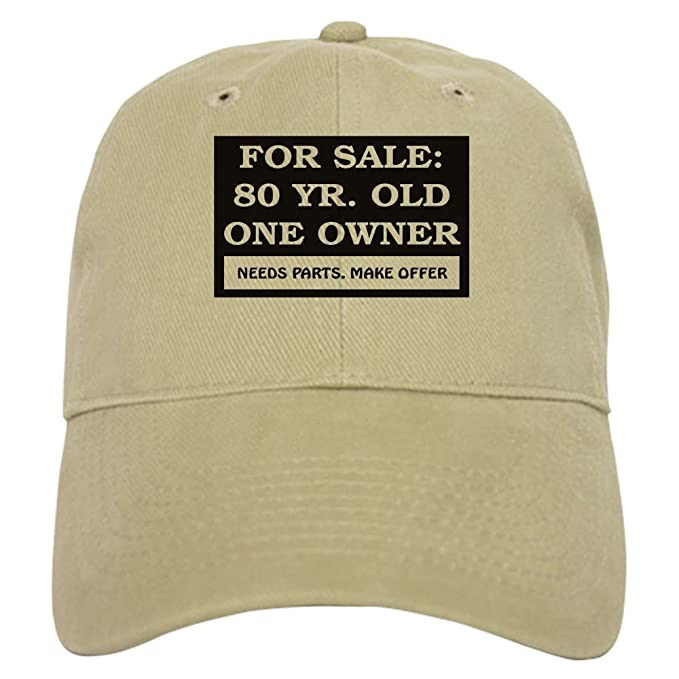 27caa0bf195 Amazon.com  CafePress - for Sale 80 Year Old - Baseball Cap with Adjustable  Closure