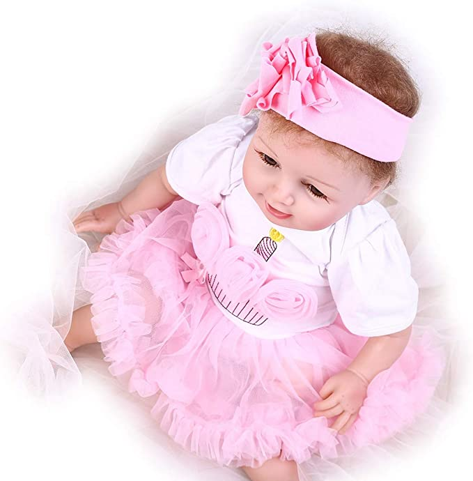 """Girl Leopar Clothes 20/'/'-23/"""" Reborn Baby NOT Included Doll Dress Headdress Shoes"""