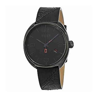 962a75106128 Fendi Pour Homme 42 mm Noir Bracelet en cuir de vachette Coque automatique  analogique montre F202611011