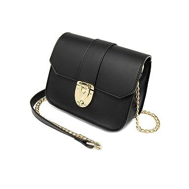 8b721de7bc3d2 Damen Ketten Tasche Schultertasche Umhängetasche Mode Elegante Vintage  Kleine Handtaschen Mini Black Bag