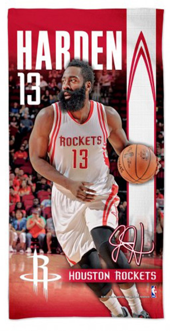 WinCraft James Harden Houston Rockets Spectra Beach/Dorm Towel NBA 30 X 60 Inch