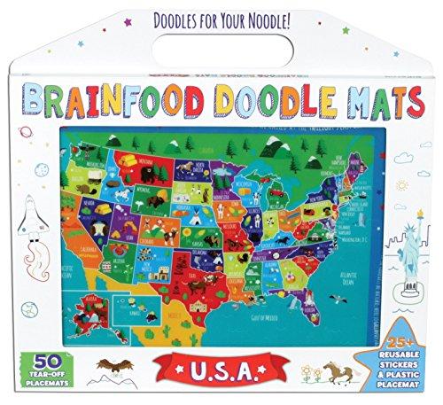 Brainfood Doodle Mats: U.S.A.