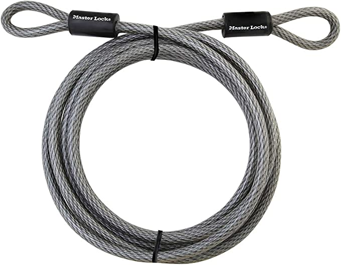 2Meters Security Double Loop Cable Strong Braided Steel For Bike Chain Lock.t