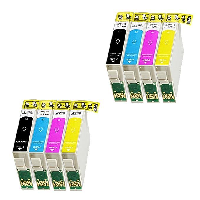 8 Cartuchos de impresora para Epson Workforce WF- 3620 3640 7110 ...