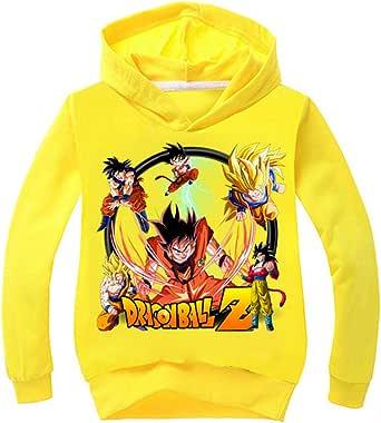 Silver Basic Sudadera Deportiva para Niños Sudadera con Capucha Dragon Ball Super Goku para Niños