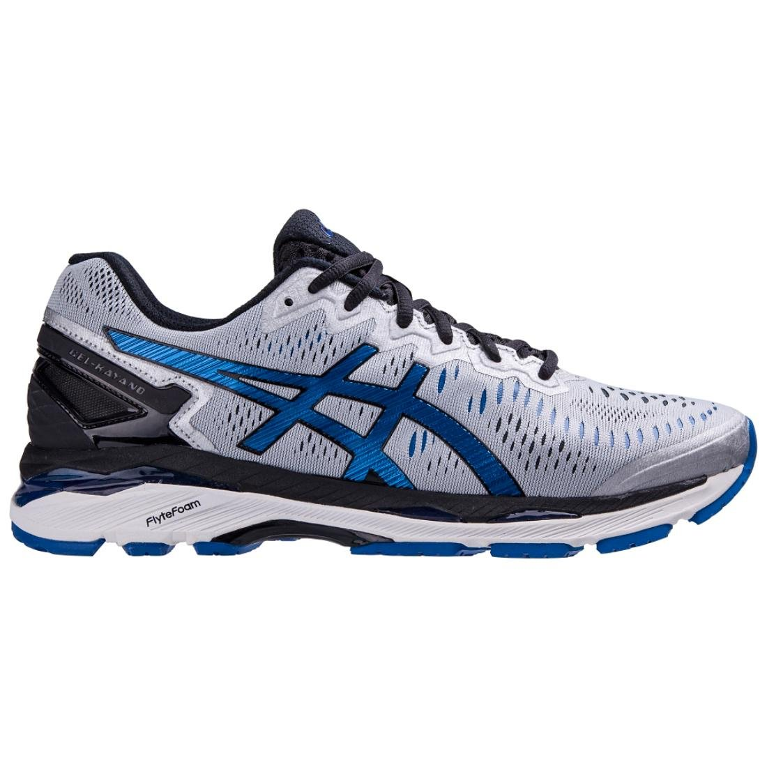 ASICS Men's Gel-Kayano 23 Running Shoe, Silver/Imperial/Black, 11 M US